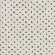Moda - Portsmouth by Minick & Simpson - 6143 - Blue Stars on Cream - 14867 21 - Cotton Fabric